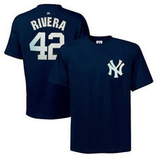 MAJESTIC MLB NY YANKEES MARIANO RIVERA Sewn-Look Name Number Navy Jersey T-Shirt