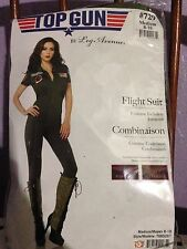 Top Gun Flight Suit Aviator Maverick Goose Leg Avenue Sexy Adult Womens Costume