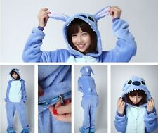 Unisex Adult Kid Pajamas Kigurumi Cosplay Animal Onesie Sleepwear Slipper Stitch