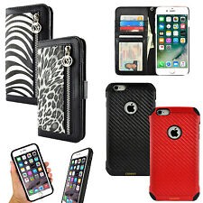 For Apple iPhone 6 / 6S Plus Luxury Animal Print Purse Card Wallet Case Cover