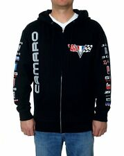 Camaro Chevrolet Zip Hoodie Black Screen Printed Hoodie Jacket Adult