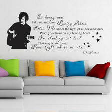 Ed Sheeran wall art sticker thinking out loud decal music lyric quote es1