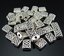 FREE Lot Crafts Tibetan silver Totems Square Findings Pendant Rondelle beads 7MM
