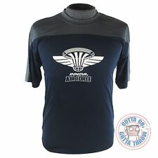 Innova AIR FORCE Rapid-Dry Short Sleeve Disc Golf Jersey - NAVY / GRAY