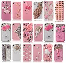 3D Crystal iPhone 4 4S Bling Case Rhinestone Diamond Cover Pink Bling Design