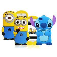 Soft 3D Pop Cartoon Despicable Me MINIONS Silicone Case Cover For iPhone 4S 5 5S