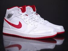 AIR JORDAN 1 Mid white gym red black New Retro OG Breds 554724 101