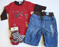 NWT Baby Gap ROCK STAR With the Band Guitar BODYSUIT/PANTS/SOCKS Shower Gift 0-3