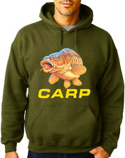 CARP CRAZE MILITARY GREEN FISHING HOODIES CARP TENCH BARBEL PIKE SAVE £10