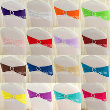 Lycra Spandex Chair Back Cover Supplies Wedding Party Sash Band with Rhinestones