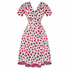 The Seamstress Of Bloomsbury Peggy Vintage 40s WW2 Pink Floral Tea Dress