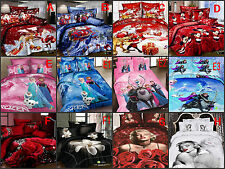 Christmas, Mickey Mouse king queen size Cotton Quilt / duvet Cover Bed Sets 4PCS