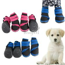 4pcs Set Puppy Pet Dog Cat Denim Doggy Boots Shoes Sport Casual Puppy Sneaker