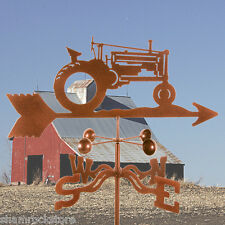 John Deere Tractor Weathervane - Farm -Classic Antique Look - w/ Choice of Mount