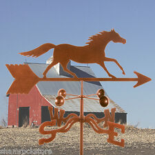 Traditional Running Horse Weathervane, Farm - w/ Choice of Mount - Vintage Look
