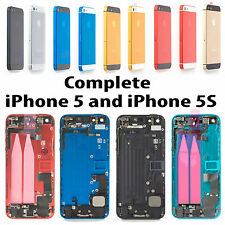 ALL COLORS FULL ASSEMBLY IPHONE 5 AND 5S METAL BACK REPLACEMENT COVER HOUSING