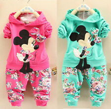Kids Baby Girls Sport Suit Children Hoodies + Pants Clothes Sets Outfits 2pcs