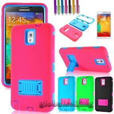 Hybrid Slim Rugged Rubber Hard Case Cover For Samsung Galaxy Note III 3 N9000