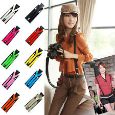 Mens Womens Unisex Clip-on Suspenders Elastic Y-Shape Adjustable Braces 10 Color