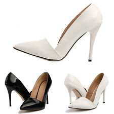 Fashion New Women Pointy Toe High Heel Pumps Slip On OL Shoes Sexy Stilettos 3-9