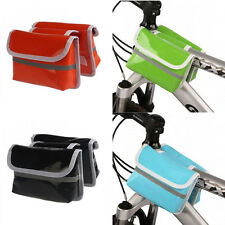 Mountain Cycling Bike Bicycle Frame Pannier Front Tube Bag Double Bags Lash Pack
