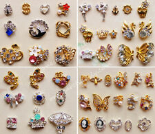 10pcs 3D Nail Art Alloy Decoration Bling Rhinestone Charm Glitter Tips DIY #N3
