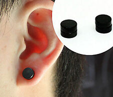 Fake Steel Expander MAGNETIC Round Stretcher NO Piercing ear Hole studs Earring