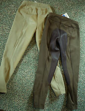 full seat real leather ladies breeches pull on tan30, dark  32 low rise ovation