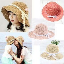 Caps Mother and Daughter Wide Brim Sun Beach Braided Straw Hat Parent-Child Cap