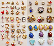10pcs 3D Nail Art Alloy Decoration Bling Rhinestone Charm Glitter Tips DIY #N5