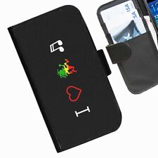 Music Leather wallet phone case for Samsung Galaxy Active Alpha Note Edge