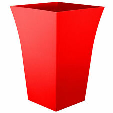 Large Milano Tall Planter Square Plastic Garden Indoor Flower Plant Pot New RED