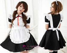Sexy Lingerie French Maid Costumes Uniform Cosplay Lolita Fancy Dress Outfit