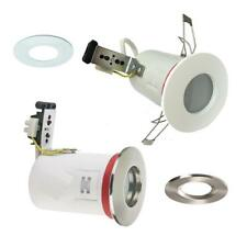 FIRE RATED IP65 BATHROOM SHOWER DOWNLIGHT RECESSED SPOTLIGHT 240V MAINS ZONE 1