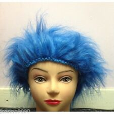 New Dr Seuss Thing 1 2 Cat in the Hat Book Week Day Fancy Dress Costume Blue Wig