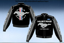Ford Mustang Racing Jacket Adult Black Cotton Twill NEW JH Design