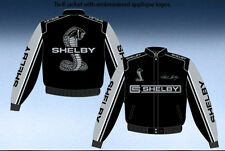 Shelby Cobra Racing Jacket Adult Black Twill New JH Design Jacket