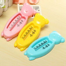 Lovely Plastic  Float Floating Bear Toy Baby Bath Tub Water Sensor Thermometer