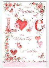 For My Partner On Valentine's Day Card - Good Quality Lovely Verse GR06