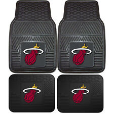 New NBA Miami Heat Car Truck Front Rear Rubber Heavy duty All Weather Floor Mats