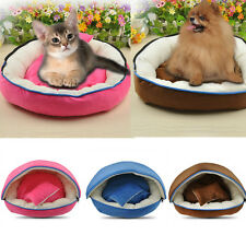 Warm Detachable Dog Cat Pet Bed House Kennel Doggy Cushion Pillows Basket Set