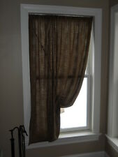 Family Heirloom Weavers Three Rivers Festoon Window Panel Curtain LEFT Pull