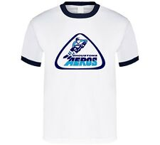 HOUSTON AEROS DEFUNCT WHA HOCKEY VINTAGE STYLE RINGER T-SHIRT NEW