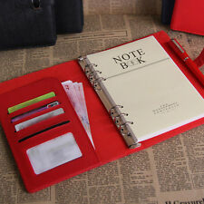 Pocket Organiser Planner PU Leather Cover Filofax Office Journal Diary Notebook
