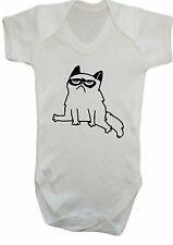 Grumpy Cat youtube blogger  BODYSUIT VEST,BABYGROW,ROMPER,GIFT,BABY CLOTHES