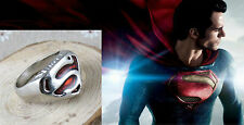 Hot Red Comics Man of Steel Superman Ring Cosplay Costume Jewellery Gift