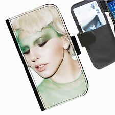 Lady Gaga Leather wallet personalised phone case for Sony Xperia M2 E1 M J