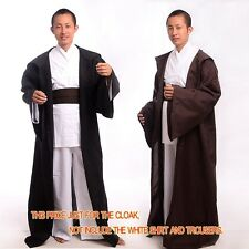 1pc Adult Star Wars tunic/Hooded Costume Robe Cloak Cape F Jedi OBI/Sith Cosplay