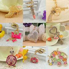 Crystal Keyring Charm Pendant Purse Bag Key Ring Chain Keychain key Fob Gift
