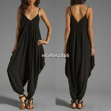 Sexy V Neckline All In One Beach Maxi Long Dress for Women Girl Rompers Pants N4